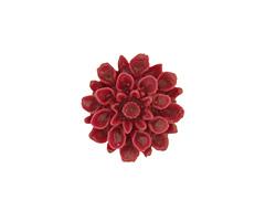 Opaque Maroon Lucite Dahlia Flower Cabochon 16mm