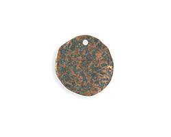 Vintaj Copper Verdigris (plated) Organic Circle 22mm