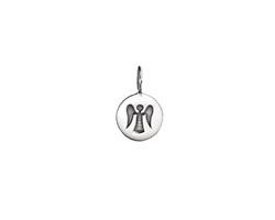 Nina Designs Sterling Silver Tiny Angel Stamp Charm 8x13mm