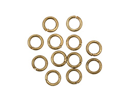 Antique Brass (plated) Round Jump Ring 6mm, 18 gauge