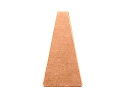 Copper Triangular Blank 17x33mm