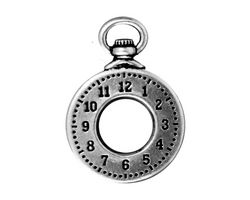 TierraCast Antique Silver (plated) Clock Toggle Ring 20x29mm