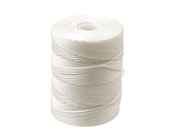 C-Lon White (.5mm) Bead Cord