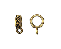 TierraCast Antique Gold (plated) .25 ID Legend Bail 3x13mm
