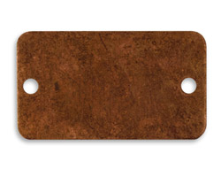 Vintaj Artisan Copper Rectangular Bracelet Altered Blank 40x23mm