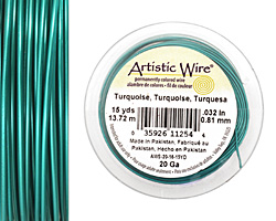 Artistic Wire Turquoise 20 gauge, 15 yards
