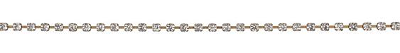 Antique Brass (plated) Rhinestone Chain 4mm