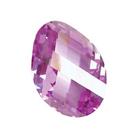 Lilac Faceted Twisted Oval 15x17mm
