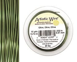 Artistic Wire Olive 20 gauge, 15 yards