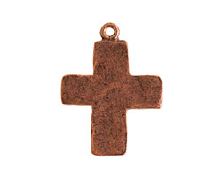 Nunn Design Antique Copper (plated) Hammered Cross Charm 21x27.5mm