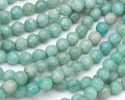 Brazil Amazonite Faceted Round 6mm