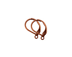 Nunn Design Antique Copper (plated) Small Leverback Earwire 10x13mm