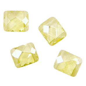 Lemon Ice Faceted Pillow (2 hole) 10x12mm