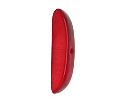 Tagua Nut Red Splinter (center-drilled) 7-8x28-35mm