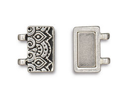 TierraCast Antique Silver (plated) Temple Magnetic Clasp Set 17x13mm