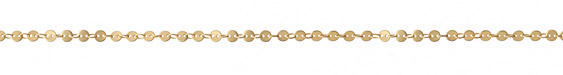 Satin Hamilton Gold (Plated) Flat Coin Link Chain