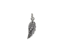 Nina Designs Sterling Silver Tiny Angel Wing (Right) Charm 5x20mm