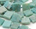 Brazil Amazonite Natural Cut Square Slab 15-17x15-17mm