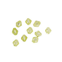 Lemon Ice Faceted Bicone 4mm