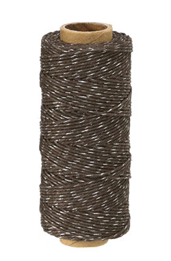 Chocolate Brown & Metallic Silver Hemp Twine 20 lb, 205 ft