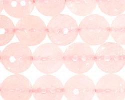 Rose Quartz Faceted Round 12mm