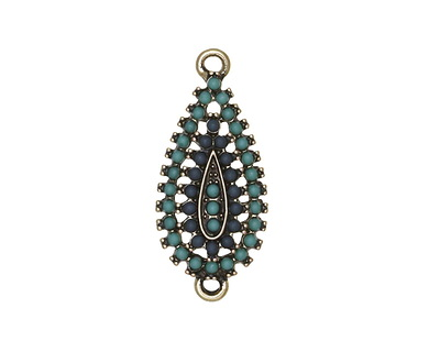 Zola Elements Antique Gold (plated) Marina Teardrop Link 13x30mm