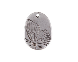 Zola Elements Antique Silver (plated) Pressed Butterfly Focal 14x19mm