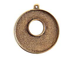Nunn Design Antique Gold (plated) Grande Circle Bezel Toggle 37x32mm