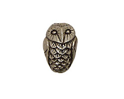 Green Girl Pewter Bubo Owl 19x13mm
