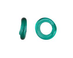 African Recycled Glass Sea Green Dogun Mini Ring 10-14mm