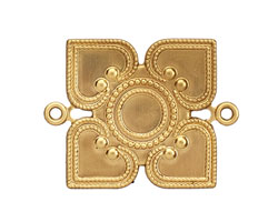 Brass Closed Diamond Link 33x26mm