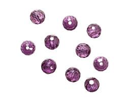 Violet Faceted Round 6mm