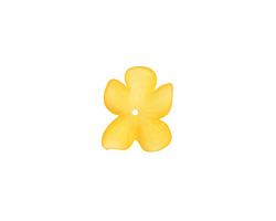 Matte Topaz Lucite Hibiscus Flower 3x11-14mm
