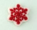 White Felt Snowflake 45mm