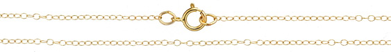 """14K Gold Filled Finished Dainty Oval Cable Chain 18"""""""