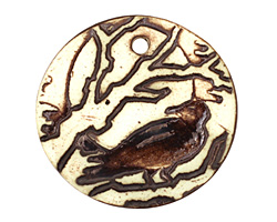 Earthenwood Studio Ceramic Raven Pendant 35mm