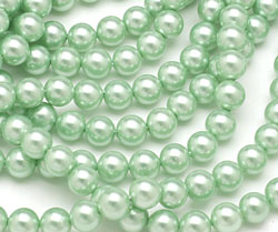 Mint Shell Pearl Round 6mm