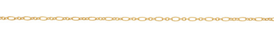 Satin Hamilton Gold (plated) Flat Long & Short Chain