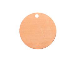 Copper Circle Blank Tag 25mm (w/ 2mm drill hole)