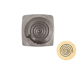 Spiral Metal Stamp 5mm