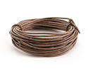 Natural Gray Round Leather Cord 2mm, 32 feet