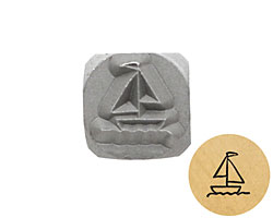Sailboat Metal Stamp 5mm