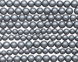 Steel Blue (matte) Shell Pearl Round 3-4mm