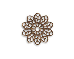 Vintaj Natural Brass Filigree Flower 20mm