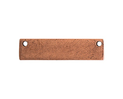 Nunn Design Antique Copper (plated) Flat Small Horizontal Rectangle Tag 32x8mm