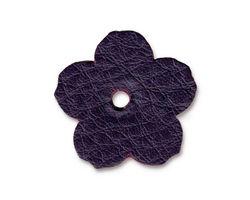 """TierraCast Purple Leather 1"""" Flower 25mm"""