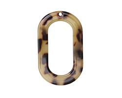 Zola Elements Light Tortoise Shell Acetate Oval Donut 27x44mm