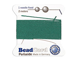 Green Griffin Nylon Beading Cord Size 8, 2 meters