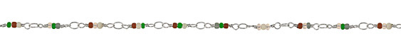 Zola Elements Winter Berry Seed Bead Link Silver Finish Chain