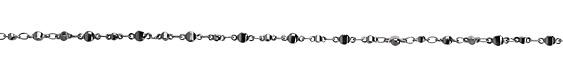 Gunmetal (plated) Alternating Disc Chain
